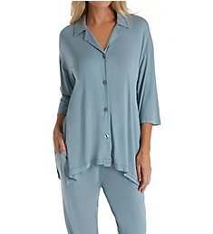 Donna Karan Sleepwear Notch Collar Capri PJ Set D296907