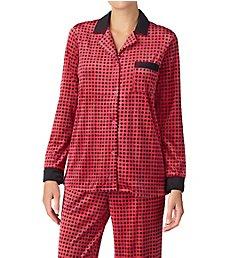Donna Karan Sleepwear A Notch Above Satin Trim PJ Set D296937