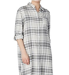 Donna Karan Sleepwear Flannel Maxi Sleepshirt D306972