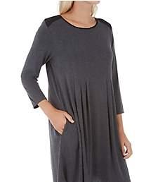 Donna Karan Sleepwear Classic 3/4 Sleeve Sleepshirt D336906