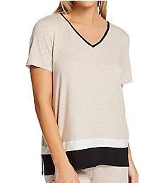 Donna Karan Sleepwear Short Sleeve Sleep Top D3423329