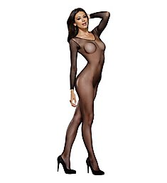 Dreamgirl Fishnet Long Sleeve Open Crotch 0015