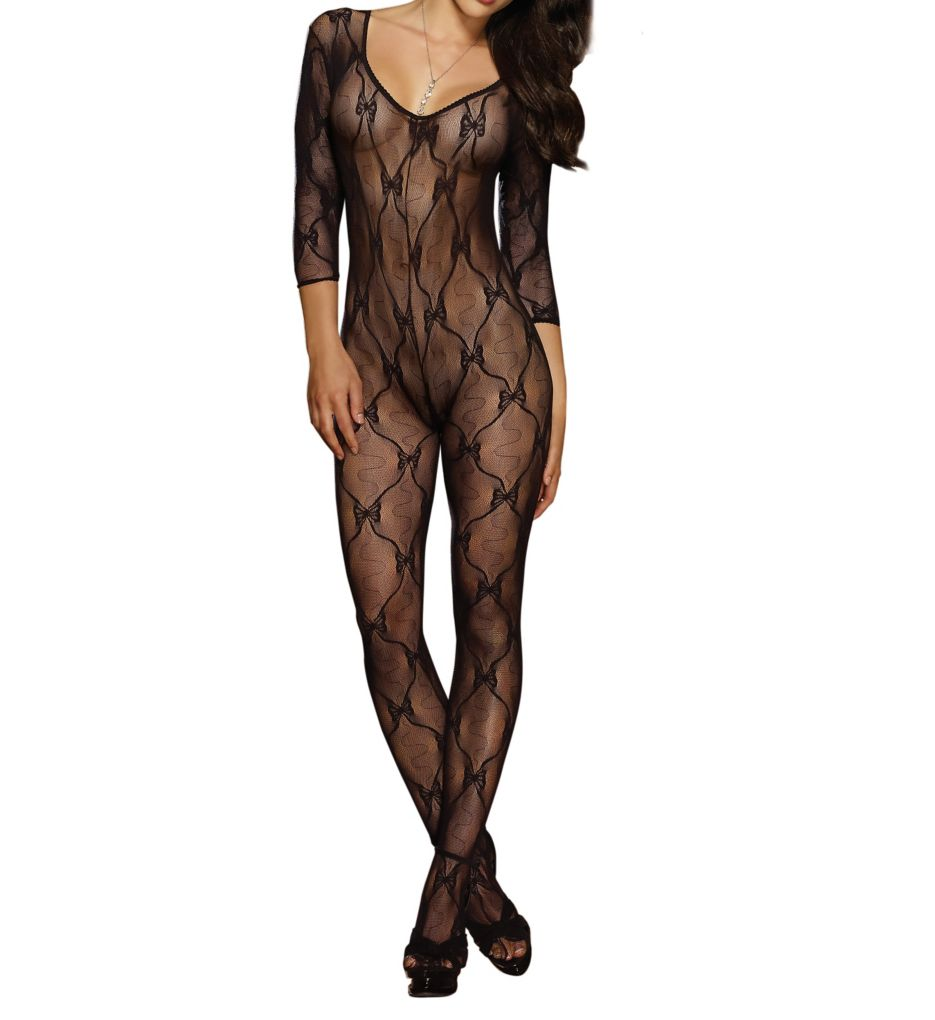Dreamgirl Open Crotch Bow Body Stocking 0019