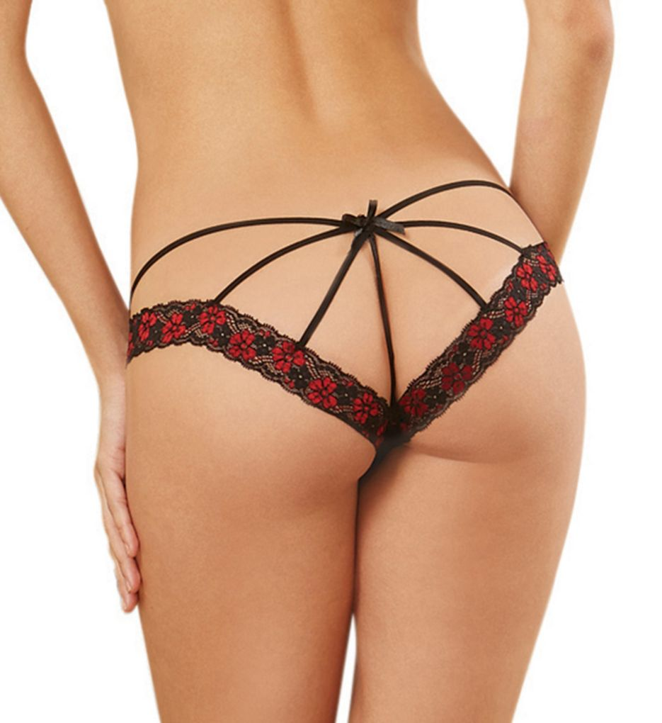 Dreamgirl Cage Back Lace Bikini Panty 1424