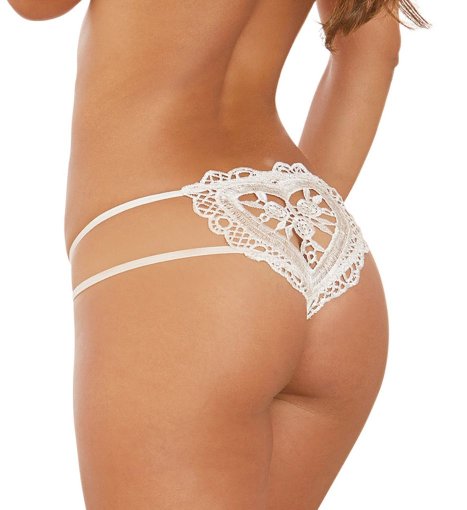 Dreamgirl Open Crotch Bridal Thong 1429