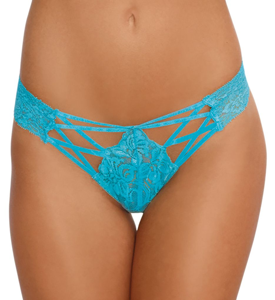 Dreamgirl Lace Up Cheeky Panty 1435