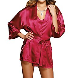 Dreamgirl Charmeuse Babydoll and Robe 3717