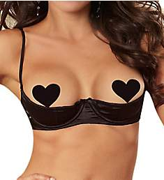 Dreamgirl Elegant Persuasion Open Cup Shelf Bra 9385
