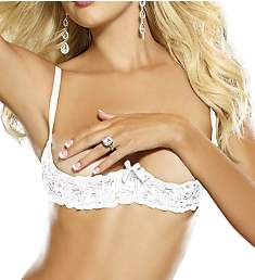 Dreamgirl Stretch Lace Open Cup Underwire Bra 9386