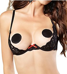 Dreamgirl Stretch Lace Open Cup Underwire Shelf Bra 9763