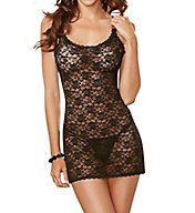 Dreamgirl Passionate Chemise with Matching G-String 9818