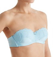 Emporio Armani Sexy Micro & Lace Padded Strapless Bandeau Bra 16350SM