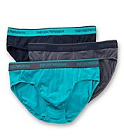 Emporio Armani Stretch Cotton Logo Band Briefs - 3 Pack 3566A717