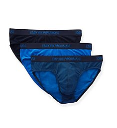 Emporio Armani Pure Cotton Low Rise Briefs - 3 Pack 6249P722