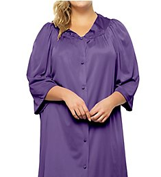 Exquisite Form Coloratura 3/4 Sleeve Button Down Knee Length Robe 10107