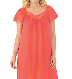 Exquisite Form Coloratura Flutter Sleeve Short Nightgown 30109