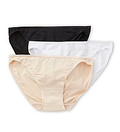 Felina So Smooth Low Rise Bikini Panties - 3 Pack 601PPK