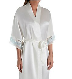 Flora Nikrooz Adore II Charmeuse Robe with Two-Tone Stretch Lace T80551