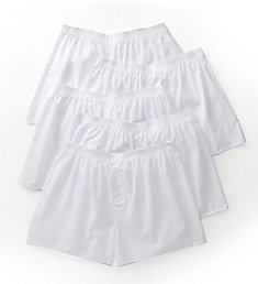 Fruit Of The Loom Extended Size White Woven Boxers - 5 Pack 5P595X