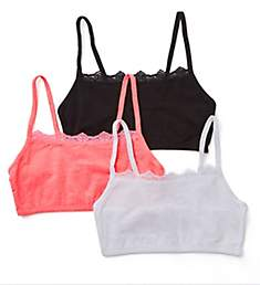 Fruit Of The Loom Spaghetti Strap Lace Trim Short Bra - 3 Pack 9036L