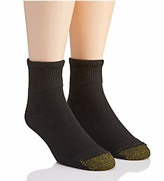 Gold Toe Non Binding Super Soft Quarter Socks - 2 Pack 201P