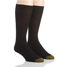 Gold Toe Wellness Comfort Top Nylon Crew Socks - 2 Pack 206S