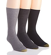 Gold Toe Metropolitan Cotton Crew Dress Socks - 3 Pack 345S