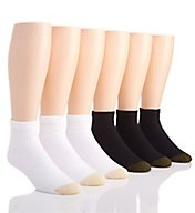 Gold Toe Cushioned Cotton Quarter Socks - 6 Pack 656P