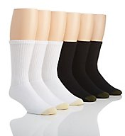 Gold Toe Athletic Crew Socks - 6 Pack 656S