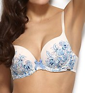 Gossard China Blue Padded Plunge Bra 12301