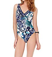 Gottex Legacy V-Neck Tummy Control One Piece Swimsuit 17LE151
