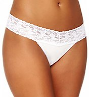Hanky Panky Modal Stretch Lace Thong 6334