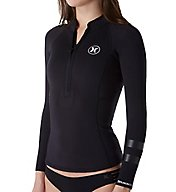Hurley Fusion 202 Zip Front Long Sleeve Rash Guard GJW020