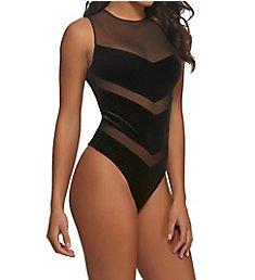 Jezebel Marabelle Mesh Velvet Bodysuit 999774