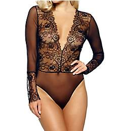 Jezebel Dossa Eyelash Lace Longsleeve Bodysuit 999795