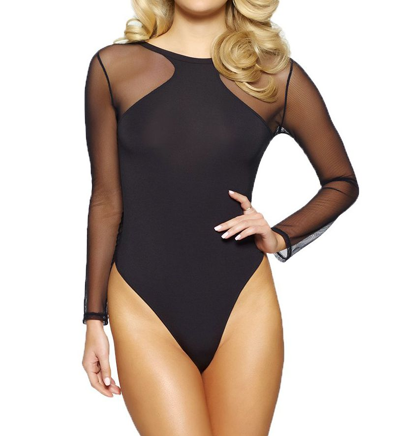 Jezebel Kirsten Modal Bodysuit with Tulle Thong Back 999804