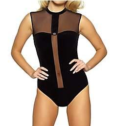 Jezebel Grace Velvet Sheer Bodysuit 999816
