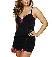 Jezebel Show Off Plus Size Slip with Mesh Ruching 999888