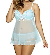 Jezebel Tiffany Plus Size Babydoll with Bikini Panty 999895