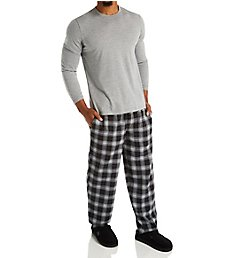 Jockey Flannel Pant With Jersey Top Sleep Set JY2023