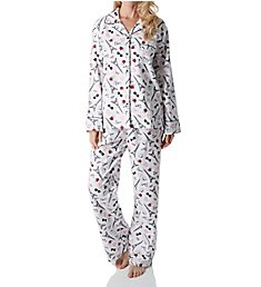 KayAnna Paris Flannel Pajama Set F15175P