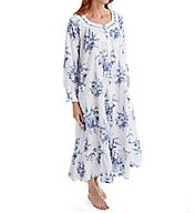 La Cera 100% Cotton Printed Floral Button Front Robe 1211R
