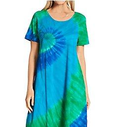 La Cera 100% Cotton Bold Knit Lounge Dress 2522