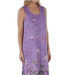 La Cera 100% Cotton Lavender Garden Knit Dress 2526