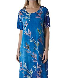 La Cera Floral Printed Lounge Dress 2767