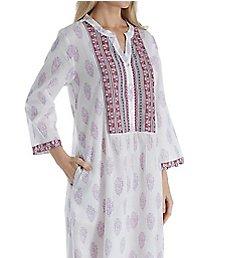 La Cera 100% Cotton Voile Caftan 3051
