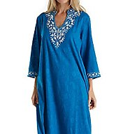 La Cera Embroidered Jacquard Caftan 3117