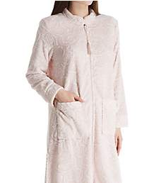 La Cera Embossed Rose Ballet Zip Robe 8813