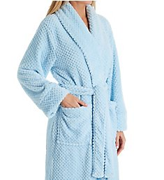 La Cera 100% Polyester Honeycomb Fleece Robe 8815