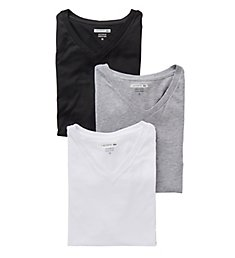 Lacoste Essentials 100% Cotton V-Neck T-Shirts - 3 Pack RAM8801